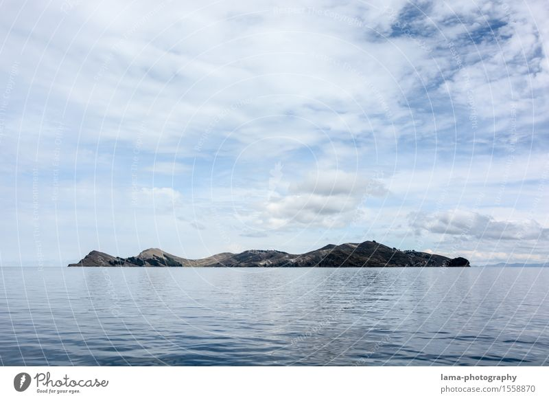 Sky Vacation & Travel Water Relaxation Landscape Clouds Lake Island Surface of water South America Peru Bolivia Inca Titicaca lake Isla del Sol