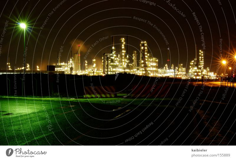 Night Future Industry Light Technology Industrial Photography Factory Economy Long exposure Complex Industrial plant Advancement Set Gigantic Environmental pollution Chemical Industry