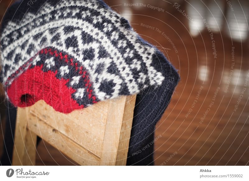 Heat promise II Well-being Contentment Relaxation Calm Winter vacation Living or residing Flat (apartment) Decoration Sweater Natural Blue Red White