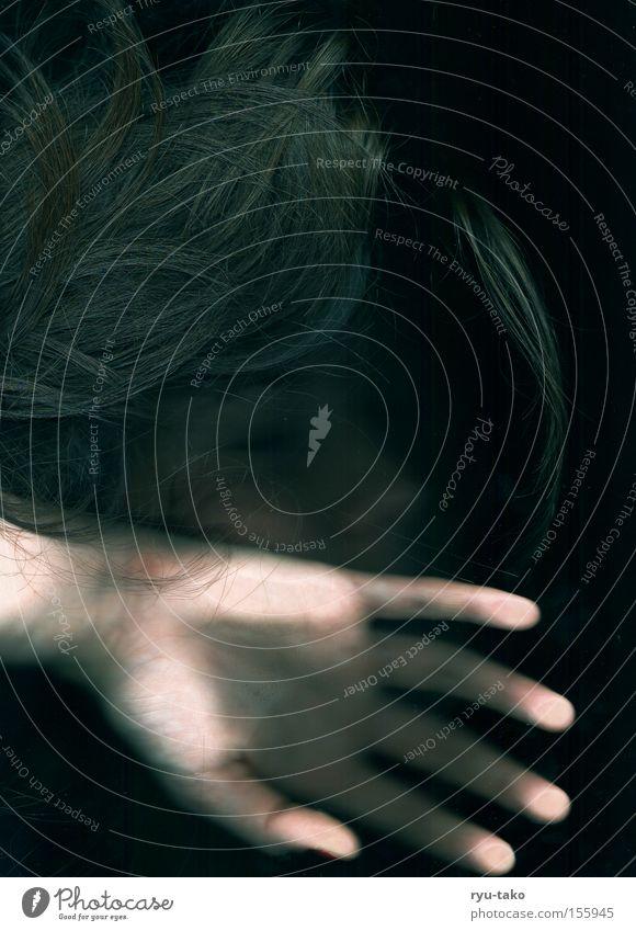 Woman Hand Beautiful Calm Black Dark Dream Sleep Undisturbed Light heartedness