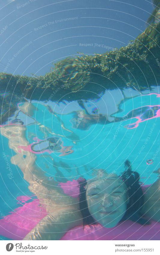 submerged°° Dive Swimming pool Girl Water Air mattress Open-air swimming pool Swimming & Bathing Summer Bikini Playing