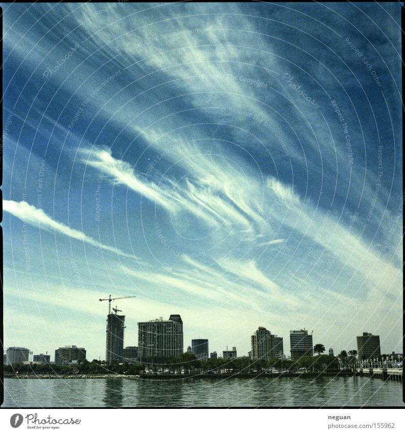 Water Sky White Blue City House (Residential Structure) Clouds USA Skyline Florida Medium format