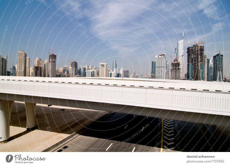City Street Movement Flat (apartment) High-rise Transport Bridge Motor vehicle Growth Living or residing Skyline Dubai Arabia United Arab Emirates Maturing time