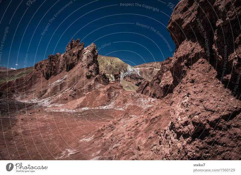 Blue Red Mountain Warmth Exceptional Brown Beautiful weather Desert Drought Salt Badlands Survive Clay Martian landscape Rock formation