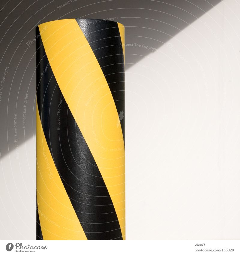 Black Yellow Colour Signs and labeling Transport Perspective Truck Signage Respect Warning label Clue Warn Warning sign Bollard Reflector