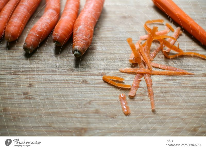 Peel carrots Food Vegetable Carrot Sheath Nutrition Organic produce Vegetarian diet Simple Fresh Healthy Delicious Juicy Orange Molt Colour photo Interior shot