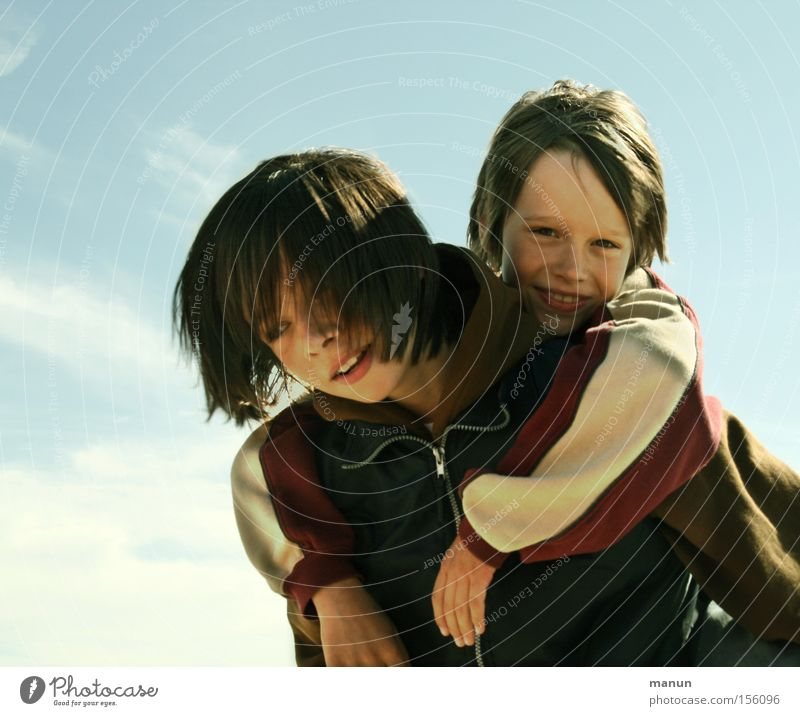 Human being Child Youth (Young adults) Joy Love Brothers and sisters Man Boy (child) Happy Laughter Family & Relations Friendship Together Portrait photograph