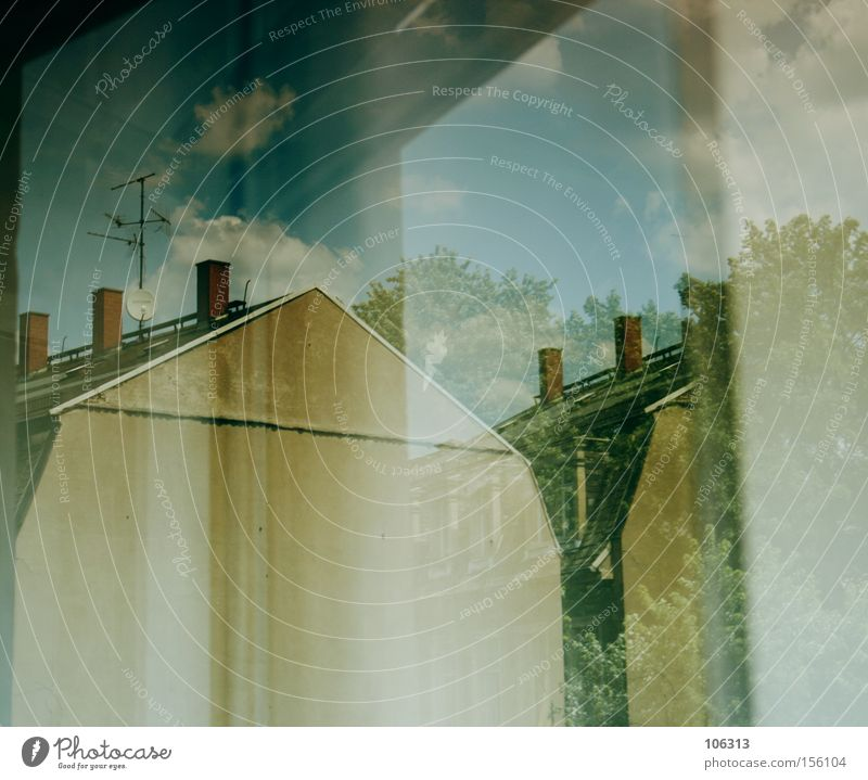 Photo number 110880 House (Residential Structure) Wall (building) Reflection Level Dresden Window Light Sky Traffic infrastructure Architecture
