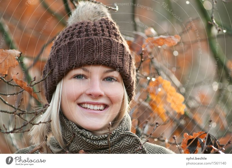 Autumn weather III Human being Feminine Young woman Youth (Young adults) Life 18 - 30 years Adults Environment Nature Plant Water Climate Beautiful weather Rain