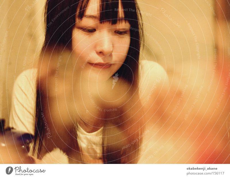 tea time Air Ambience Light (Natural Phenomenon) Café Japan Tokyo Portrait photograph Woman light effect Contax Aria contax