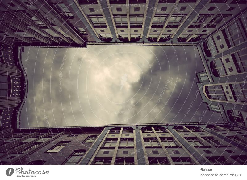 Sky City House (Residential Structure) Clouds Berlin Window Architecture Facade Historic Geometry Backyard Courtyard Interior courtyard