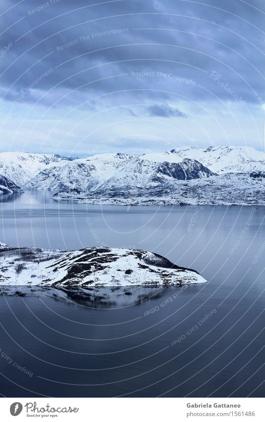Insel Sky Water Landscape Clouds Calm Environment Infinity Snow mountain
