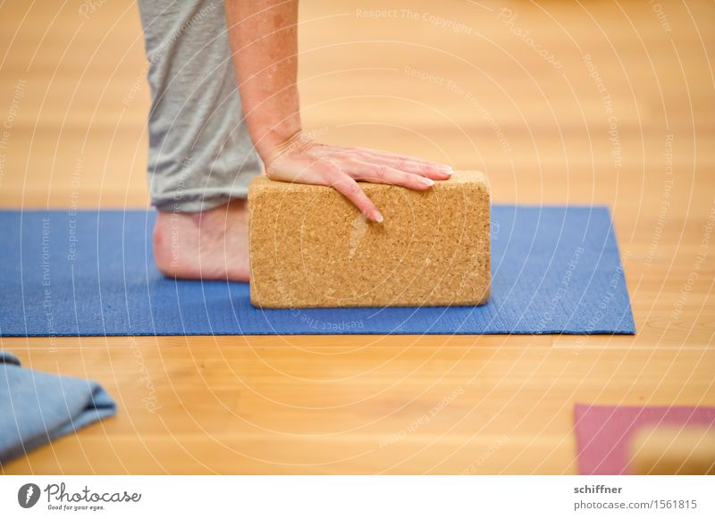 block on the leg Healthy Health care Wellness Harmonious Well-being Leisure and hobbies Sports Yoga Human being Arm Hand Legs Feet Touch Block Practice