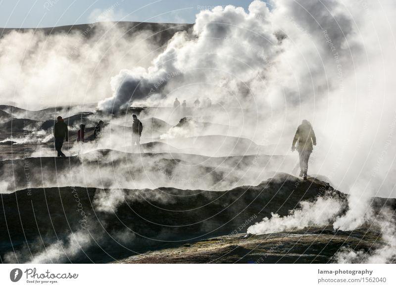 It's still boiling... Tourism Trip Adventure Sightseeing Human being Nature Volcano El Tatio Geyser Geyser bassin fumarole Solfatarenfeld San Pedro de Atacama