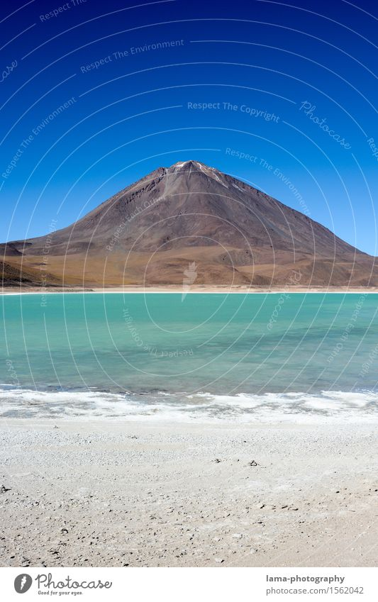Laguna Verde Vacation & Travel Adventure Far-off places Sightseeing Nature Landscape Elements Sand Water Sky Snowcapped peak Volcano Licancabur Lagoon