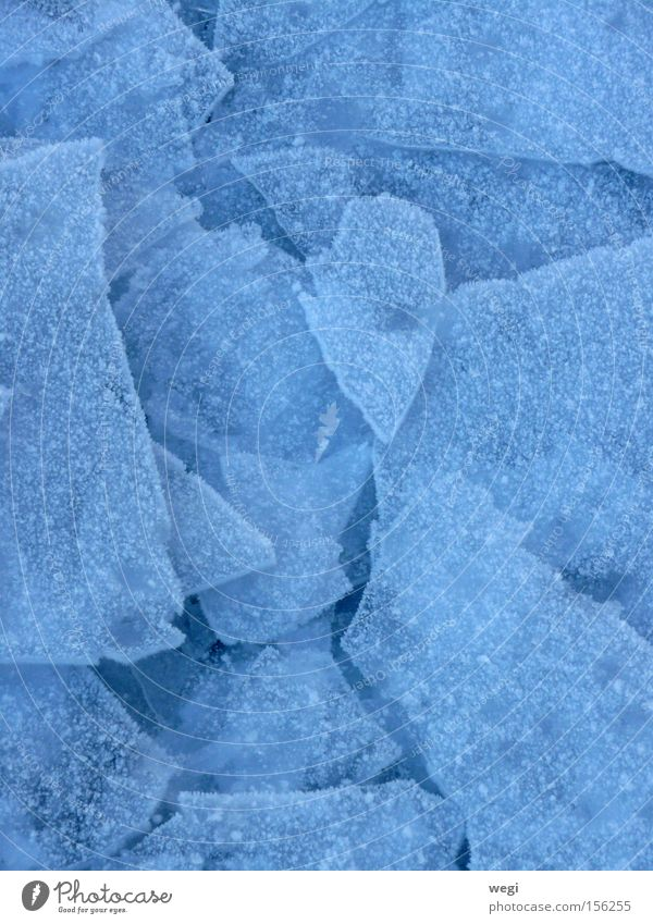 Ice on Lake Chiemsee Winter Nature Blue Snow Abstract