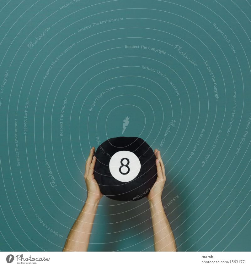eightball Style Leisure and hobbies Sports Human being Arm 1 Emotions Moody Pool (game) Ball 8 eigthball Abstract Hand Symbols and metaphors Colour photo
