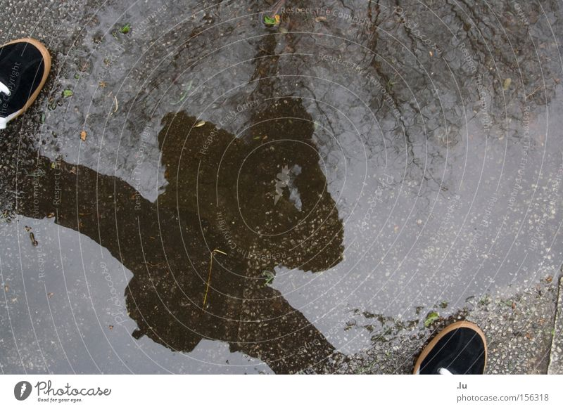 Self Human being Water Tree Adults Cold Legs Rain Wet Dangerous 18 - 30 years Fluid Trashy Spain Puddle Self portrait Bad weather