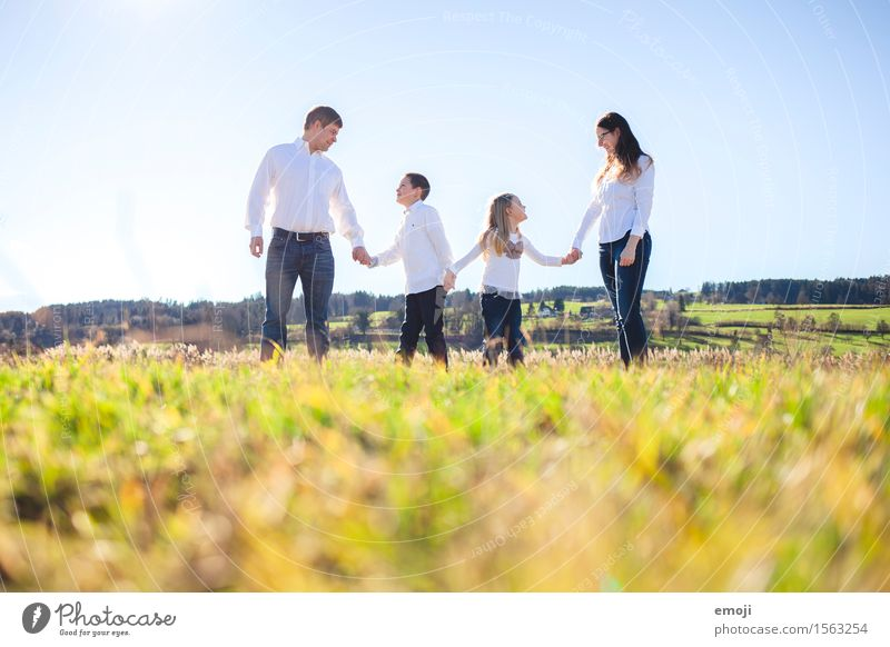 Human being Nature Environment Natural Family & Relations Together Field Fresh Happiness Beautiful weather Friendliness Domestic happiness Family outing