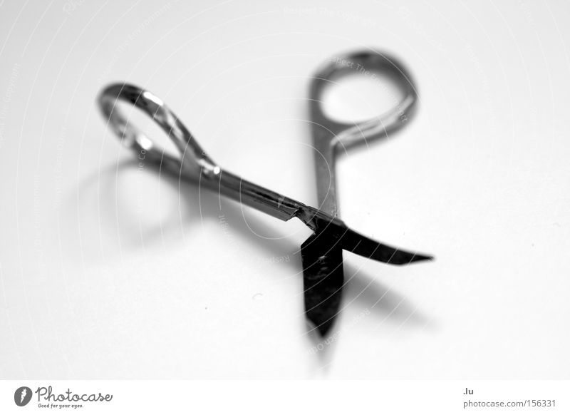 Silhouette II Nail scissors Broken Divide Part Connect Symbiosis Together Scissors Isolated Image Transience Costume User interface Obscure Sharp thing Tilt