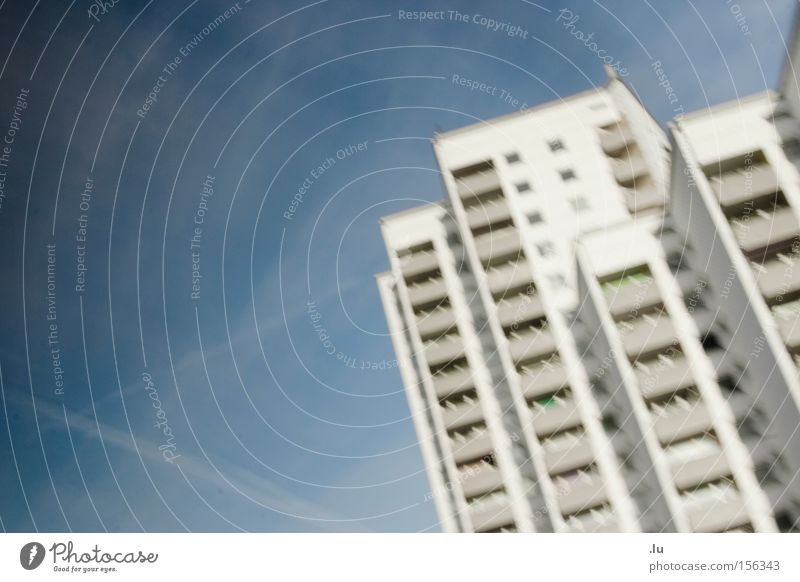 House (Residential Structure) Movement Bird's-eye view Flying Aviation Box Geometry Prefab construction Tower block High-rise Focal point Dim