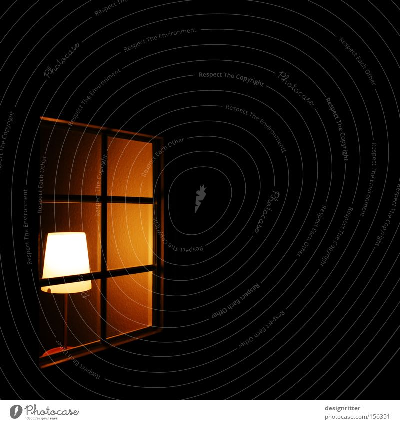 House (Residential Structure) Lamp Dark Window Warmth Flat (apartment) Safety Protection Private Flare Private sphere