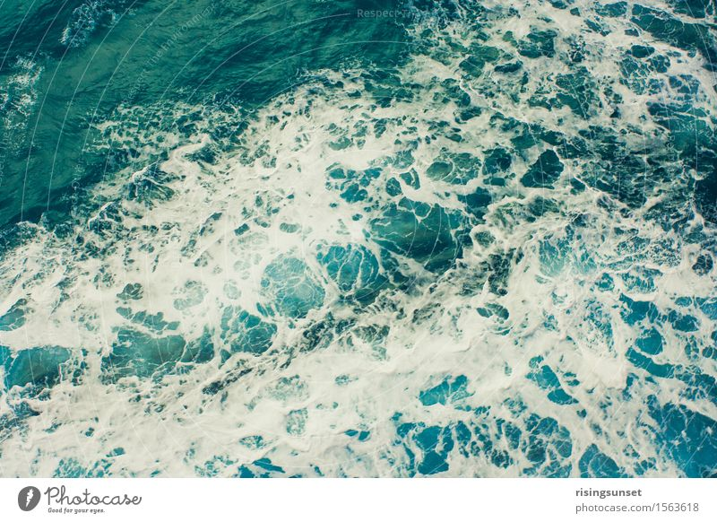 Nature Vacation & Travel Blue Green Water White Ocean Relaxation Natural Freedom Swimming & Bathing Glittering Waves Esthetic Wind Large
