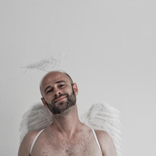 Angel of Wisdom Human being Masculine Man Adults Head Face 1 30 - 45 years Happy Inspiration Power Joie de vivre (Vitality) Ease Naked Optimism Pure