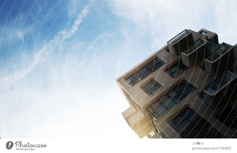 .:: HAFENcity ::. Sky Blue White Clouds Hamburg Harbor city Modern Glass Architecture