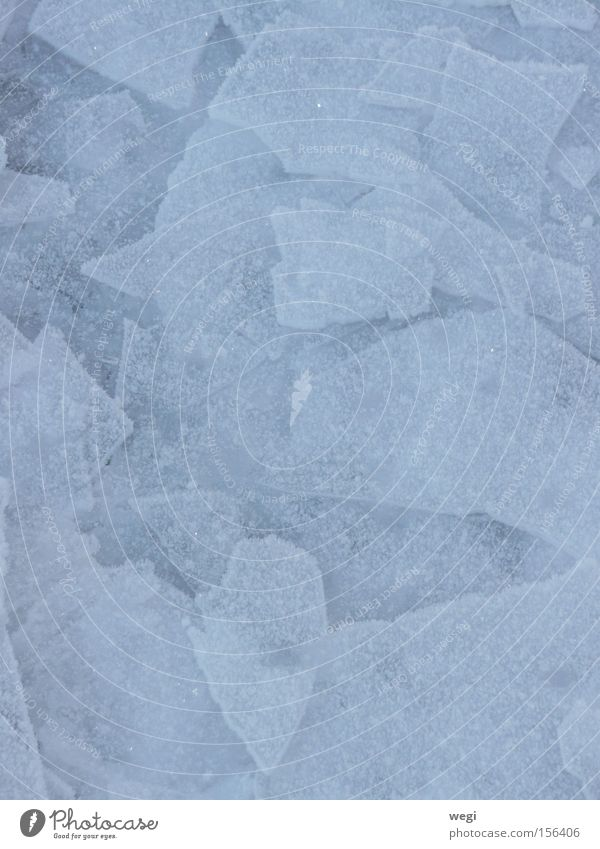 Ice on Lake Chiemsee Winter Nature Blue Water Abstract Snow
