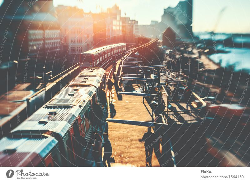 City Moody Tourism Transport Hamburg Downtown Traffic infrastructure Passenger traffic City trip Underground Train station Port City Elbe Means of transport