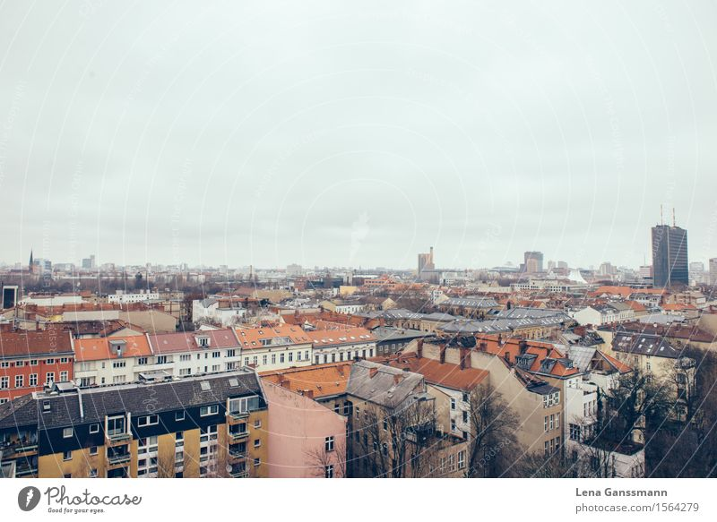 City Cold Sadness Berlin Germany Horizon Tourism Perspective Europe Roof Infinity Fear of heights Skyline Capital city Downtown Trashy