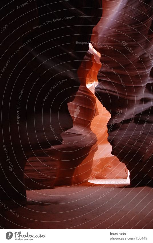 Tse bighnilini Antelope Canyon Valley Light Shadow High point Rock Sand Reflection Stone Minerals USA Mountain Reflection & Reflection