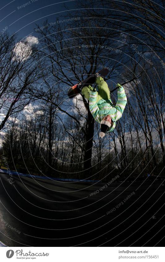 Sky Blue Green Summer Tree Winter Dark Style Jump Tall Pants Cap Jacket Snowboard Trick Talented