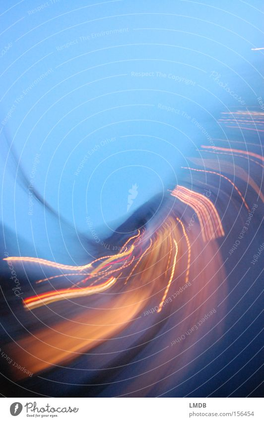 Blue Street Movement Gold Speed Energy industry Swing Long exposure Rotation Night life