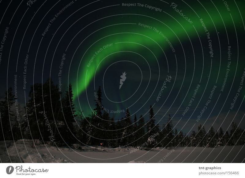 Sky Winter Scandinavia Finland Celestial bodies and the universe Aurora Borealis Lapland