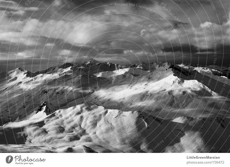 Clouds Far-off places Winter Mountain Snow Switzerland Canton Graubünden Davos Parsenn