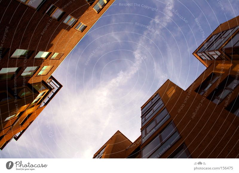 Sky House (Residential Structure) Clouds Window High-rise Hamburg Modern Harbour Harbor city