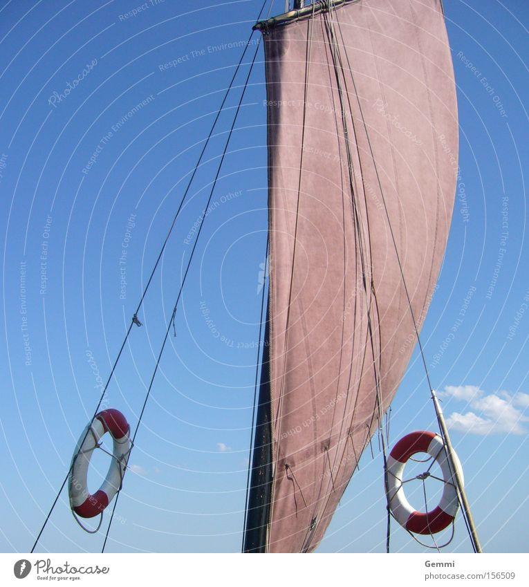 Water Ocean Vacation & Travel Calm Relaxation Lake Watercraft Waves Sailing Baltic Sea Aquatics Sailing ship Life belt Hundred-metre sprint Boddenlandscape NP