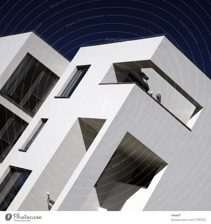 Sky Wall (building) Window Wall (barrier) Architecture Glass Concrete Modern Arrangement Corner Build Weimar Bauhaus