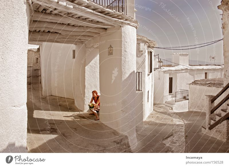 White Vacation & Travel Calm Relaxation Europe Break Granada Village Historic Spain Alley Midday Celestial bodies and the universe Andalucia Alpujarras Sierra Nevada