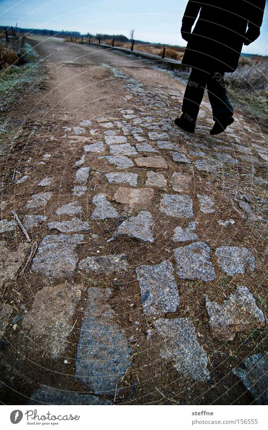 Stone Lanes & trails Hiking Walking To go for a walk Leisure and hobbies Footpath Rural Pave