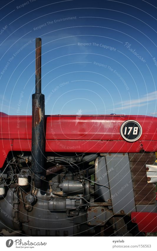 Landei Rennsemmel No.178 Sky Tractor Agriculture Machinery Power Engines Gasoline Diesel Red Tin Steel Industry Digits and numbers Oil