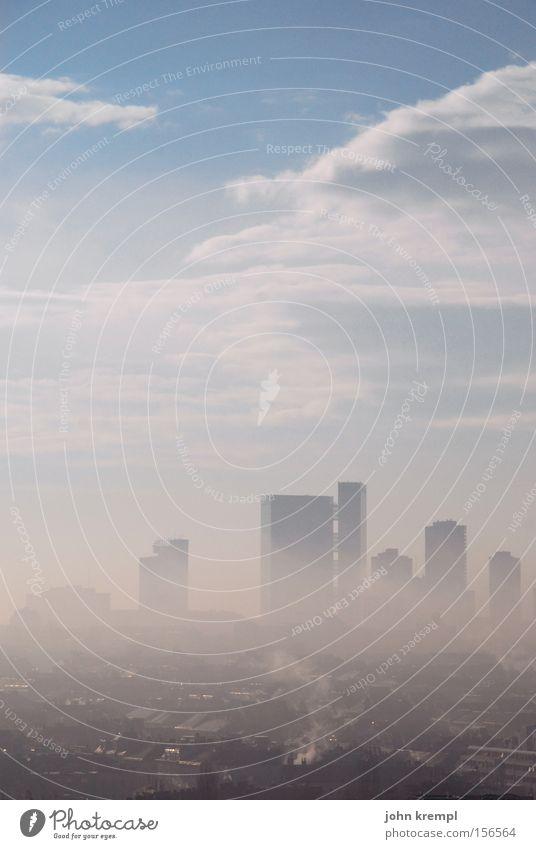 vienna blunst Vienna Fog Smog Dawn High-rise Skyline Clouds Sadness