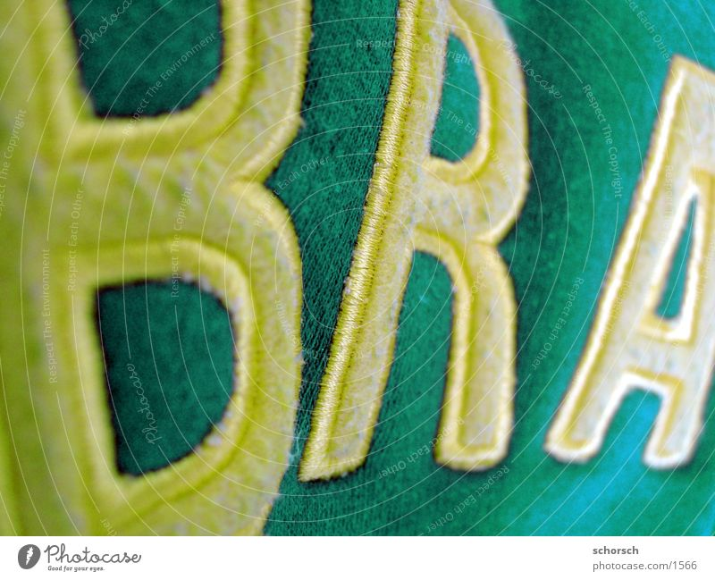 Brazil World Cup Textiles Letters (alphabet) Typography Photographic technology