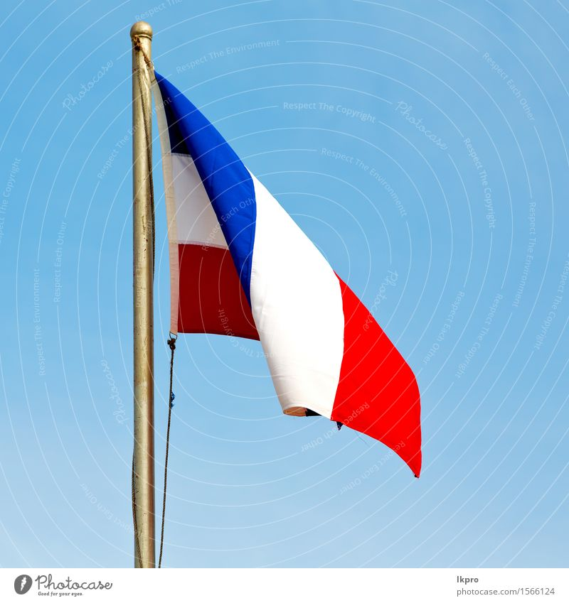 france colour and wave Vacation & Travel Freedom Earth Sky Clouds Wind Lanes & trails Metal Flag Flying Blue Red White Colour backdrop background Banner