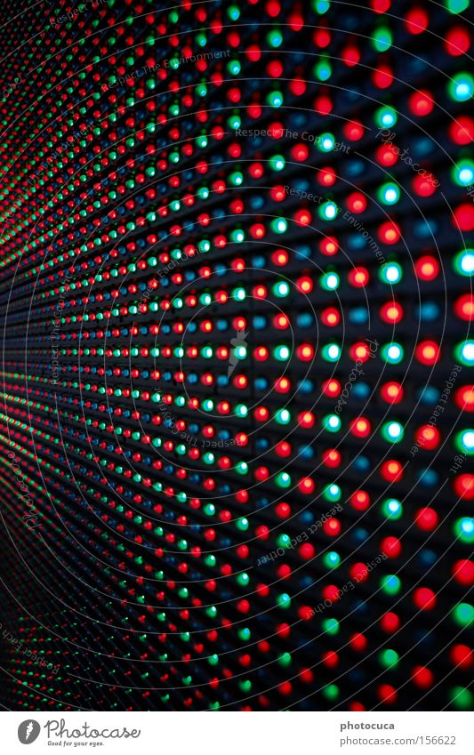 LED Structures and shapes Lamp Multicoloured Green Blue Screen Red Light Matrix Call center Digital photography Display