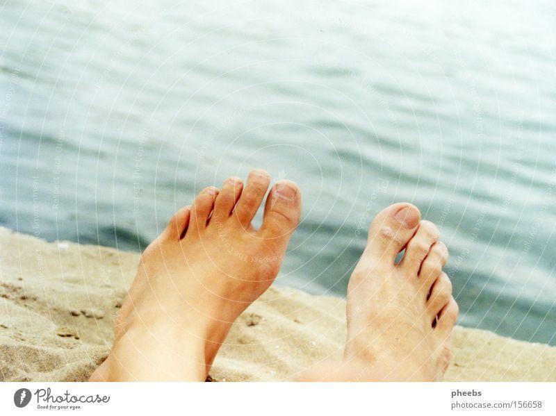 Woman Man Water Ocean Summer Beach Stone Feet Lake Sand
