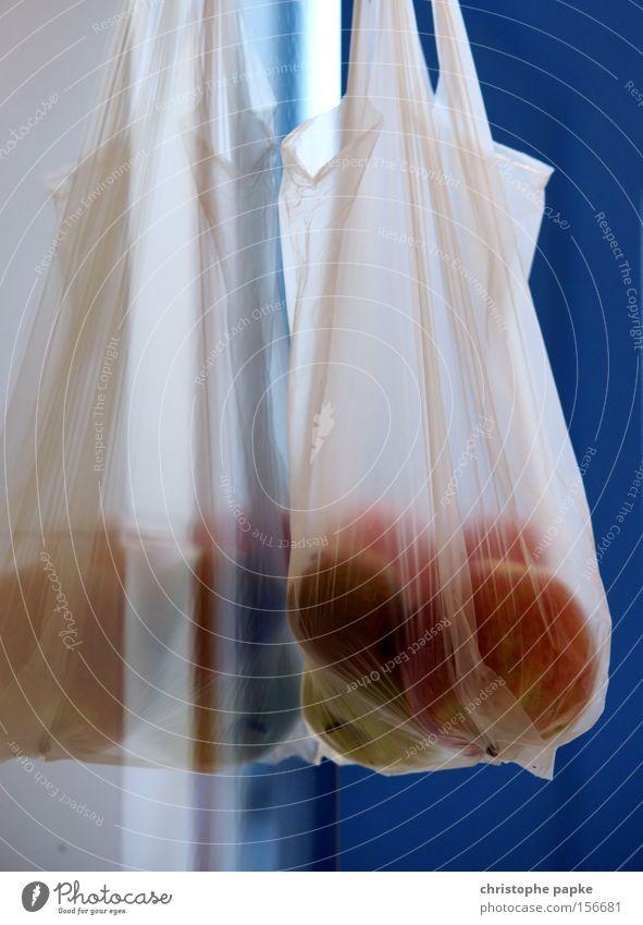 bag full of fruit Colour photo Interior shot Close-up Deserted Fruit Apple Nutrition Organic produce Vegetarian diet Gastronomy Plastic Fresh Quality Thrifty
