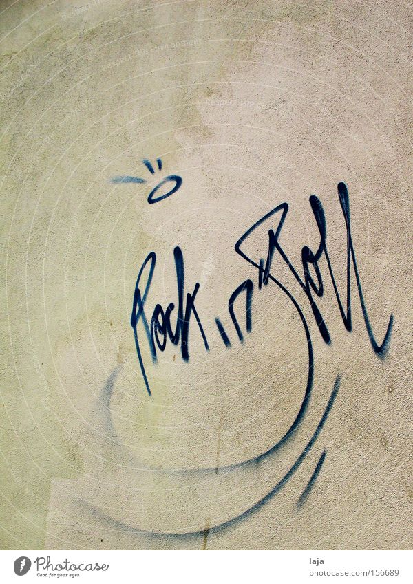 House (Residential Structure) Wall (building) Music Graffiti Weimar Possessions Rock'n'Roll Vandalism Mural painting To make dirty Anarchy